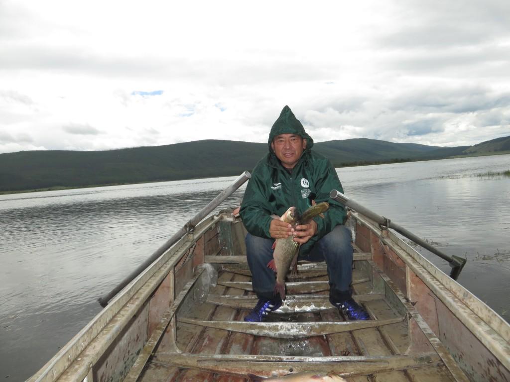 на рыбалке с Дорджи